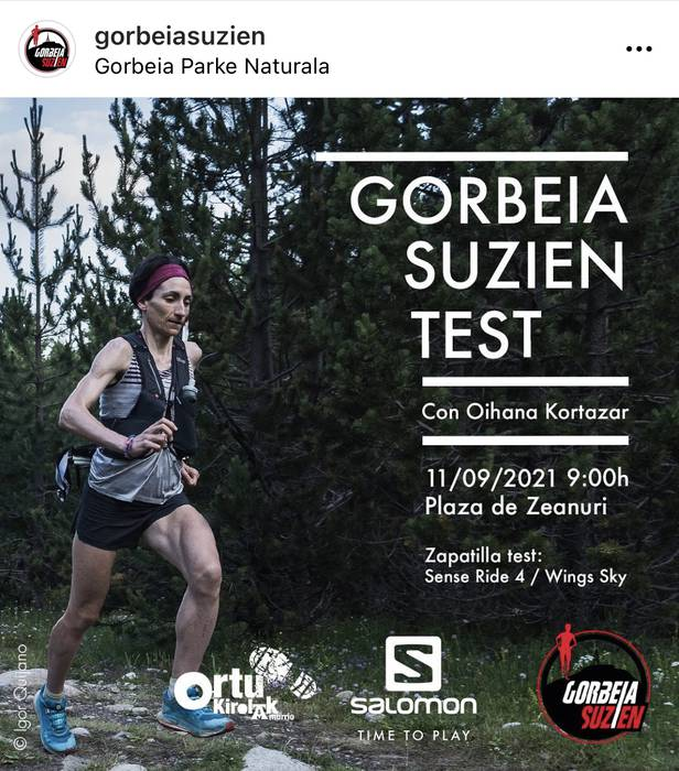 Gorbeia Suzien Test ekintza antolatuko da Zeanurin zapatuan
