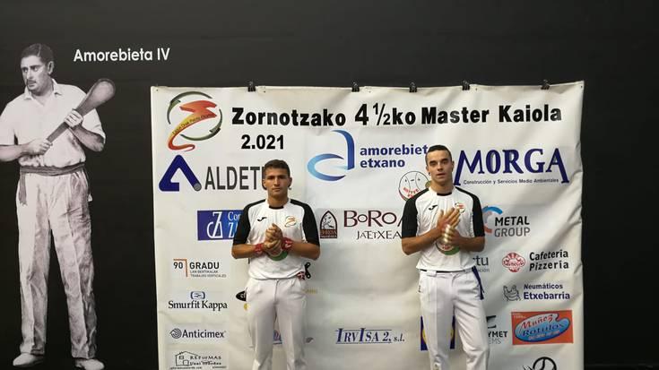 Prietoren aurka lehiatuko da bihar Etxeita Zornotzako VI. Master Kaiolan