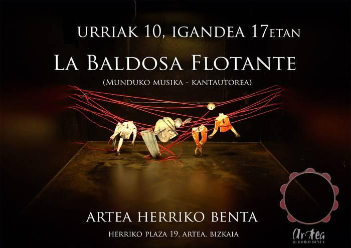 """""""La baldosa flotante""""-k munduko musikea ekarriko dau Arteara"""